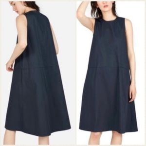 Everlane Navy The Clean Cotton A Line Shift Dress